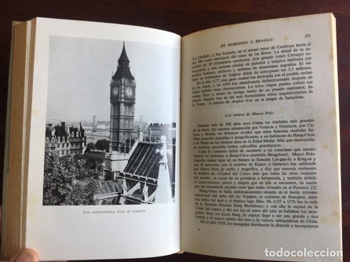 Libros: De Babilonia a Brasilea De Zischka. 1961. Con 7 capítulos origen de las ciudades desde la antiguedad - Foto 16 - 181511278