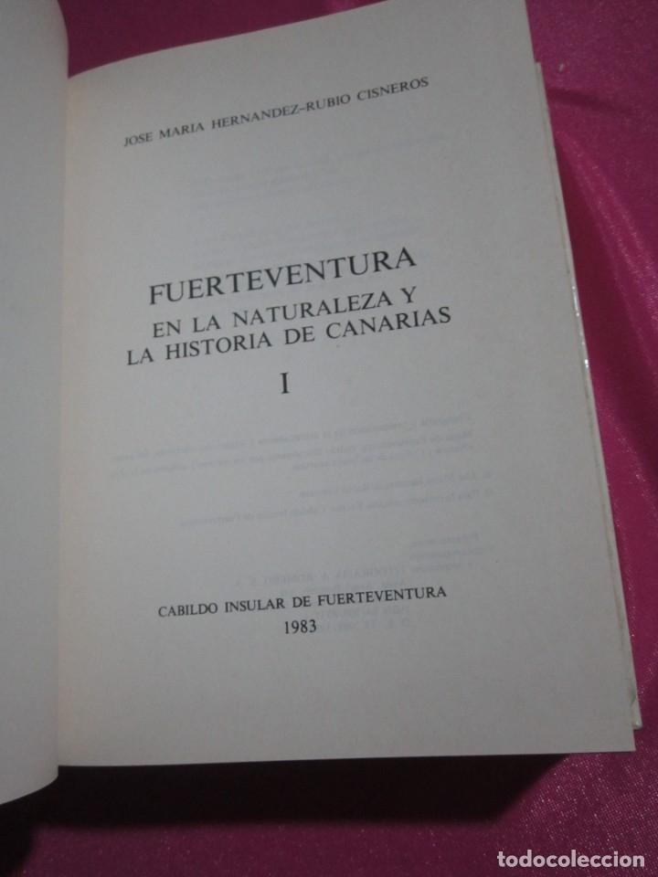 Libros: FUERTEVENTURA EN LA NATURALEZA Y LA HISTORIA DE CANARIAS CISNEROS - Foto 2 - 182331163