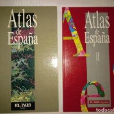 Libros: ATLAS DE ESPAÑA. DOS TOMOS IMPECABLES. EL PAIS.. Lote 191915507