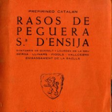 Libros: RASOS DE PEGUERA. Lote 194258411