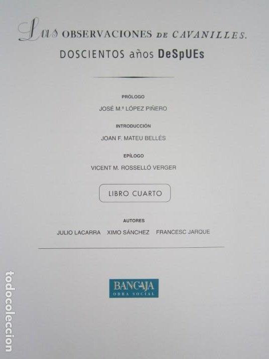 Libros: Las observaciones de Cavanilles. Doscientos años después. Completo Castellano 4 tomos -OFERTA!! - Foto 19 - 205402066