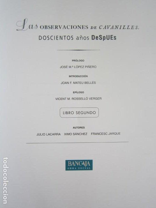 Libros: Las observaciones de Cavanilles. Doscientos años después. Completo Castellano 4 tomos -OFERTA!! - Foto 10 - 205402066