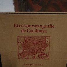 Libros: EL TRESOR CARTOGRÀFIC DE CATALUNYA. ELS MAPES MÉS ANTICS, SEGLES XVII I XVIII. Lote 222287153