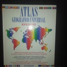 Libros: ATLAS GEOGRAFICO UNIVERSAL. Lote 224558577
