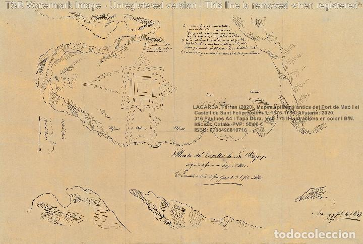 Libros: Cartografia antiga del Port de Maó i el Castell de Sant Felip. Volum 1: 1575-1756 (Mahon-Menorca) - Foto 3 - 207290521