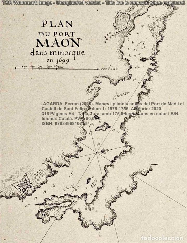 Libros: Cartografia antiga del Port de Maó i el Castell de Sant Felip. Volum 1: 1575-1756 (Mahon-Menorca) - Foto 5 - 207290521