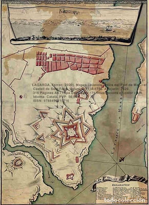 Libros: Cartografia antiga del Port de Maó i el Castell de Sant Felip. Volum 1: 1575-1756 (Mahon-Menorca) - Foto 8 - 207290521