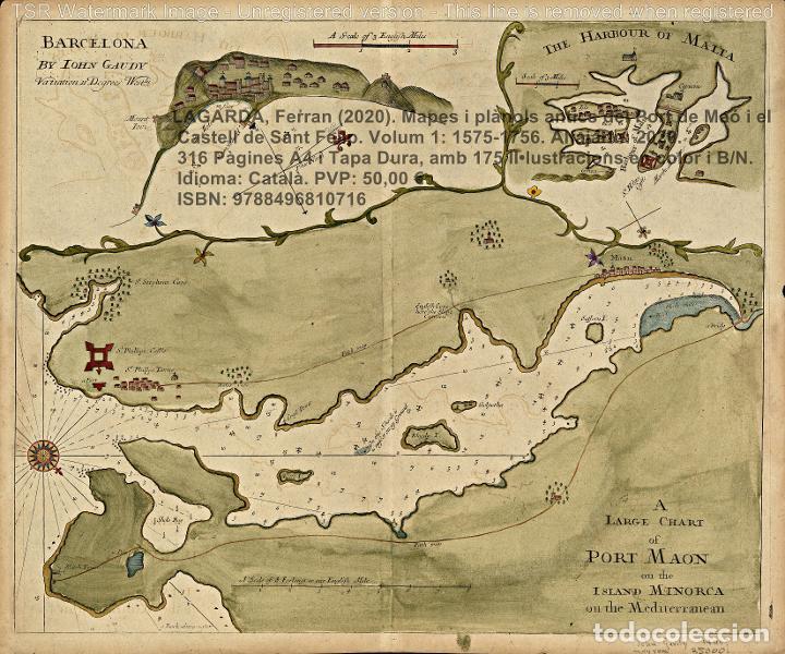 Libros: Cartografia antiga del Port de Maó i el Castell de Sant Felip. Volum 1: 1575-1756 (Mahon-Menorca) - Foto 12 - 207290521