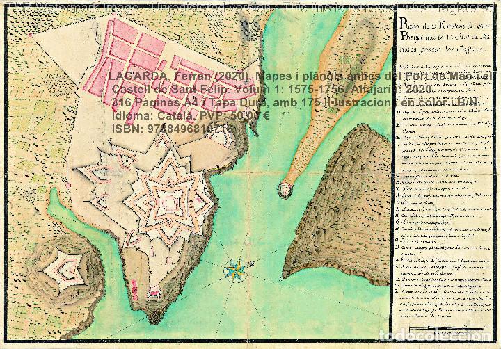 Libros: Cartografia antiga del Port de Maó i el Castell de Sant Felip. Volum 1: 1575-1756 (Mahon-Menorca) - Foto 13 - 207290521