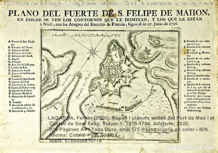 Libros: Cartografia antiga del Port de Maó i el Castell de Sant Felip. Volum 1: 1575-1756 (Mahon-Menorca) - Foto 19 - 207290521