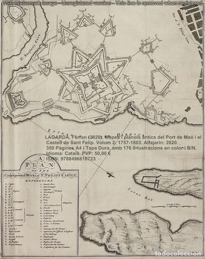 Libros: Cartografia antiga del Port de Maó i el Castell de Sant Felip. Volum 2: 1757-1803. (Mahon-Menorca) - Foto 2 - 207290678