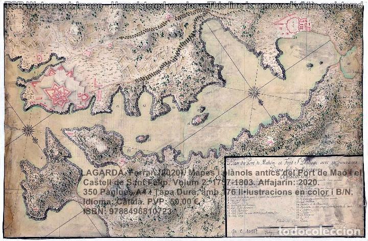 Libros: Cartografia antiga del Port de Maó i el Castell de Sant Felip. Volum 2: 1757-1803. (Mahon-Menorca) - Foto 3 - 207290678