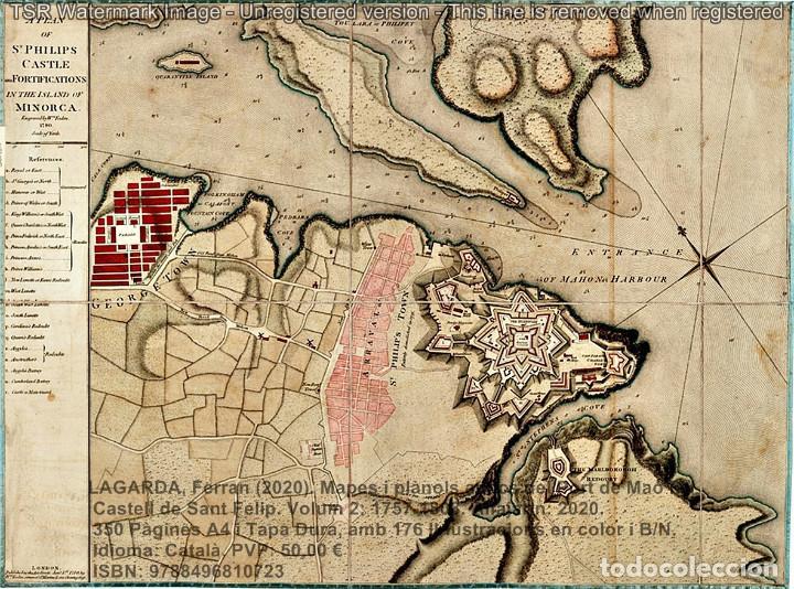 Libros: Cartografia antiga del Port de Maó i el Castell de Sant Felip. Volum 2: 1757-1803. (Mahon-Menorca) - Foto 10 - 207290678