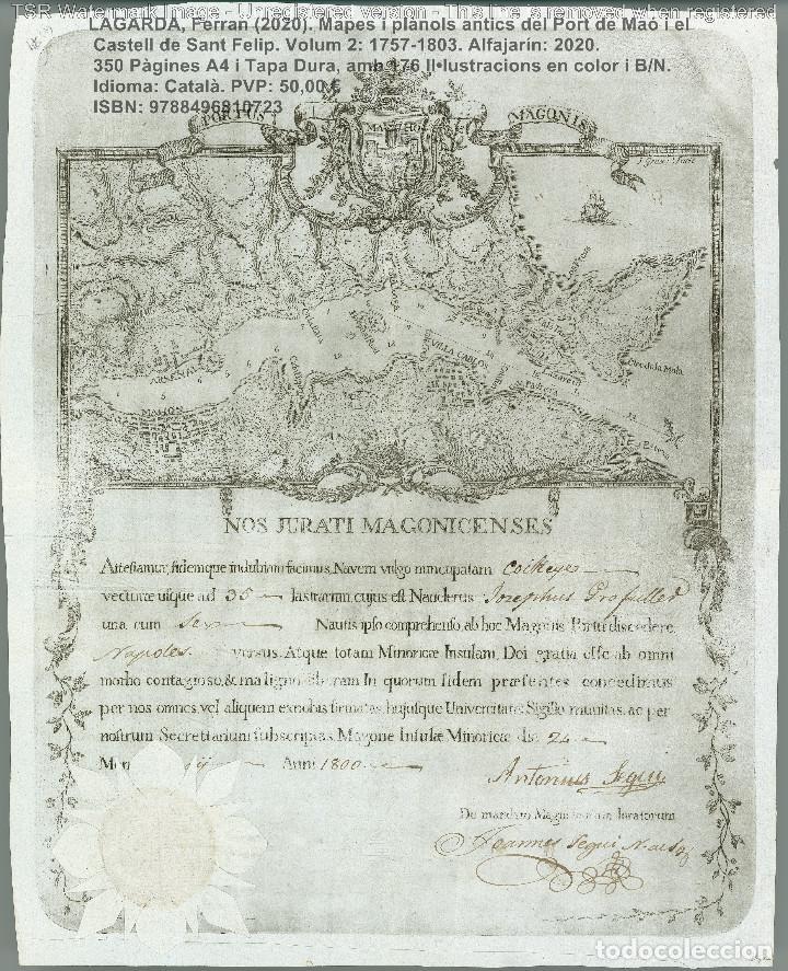 Libros: Cartografia antiga del Port de Maó i el Castell de Sant Felip. Volum 2: 1757-1803. (Mahon-Menorca) - Foto 14 - 207290678