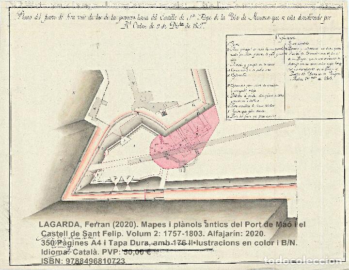 Libros: Cartografia antiga del Port de Maó i el Castell de Sant Felip. Volum 2: 1757-1803. (Mahon-Menorca) - Foto 18 - 207290678
