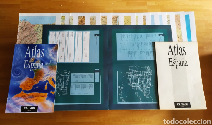"""Libros: ATLAS DE ESPAÑA (1992); """" EL PAIS """"; Editorial Aguilar. Sin Encuadernar. Completo. - Foto 6 - 245015290"""