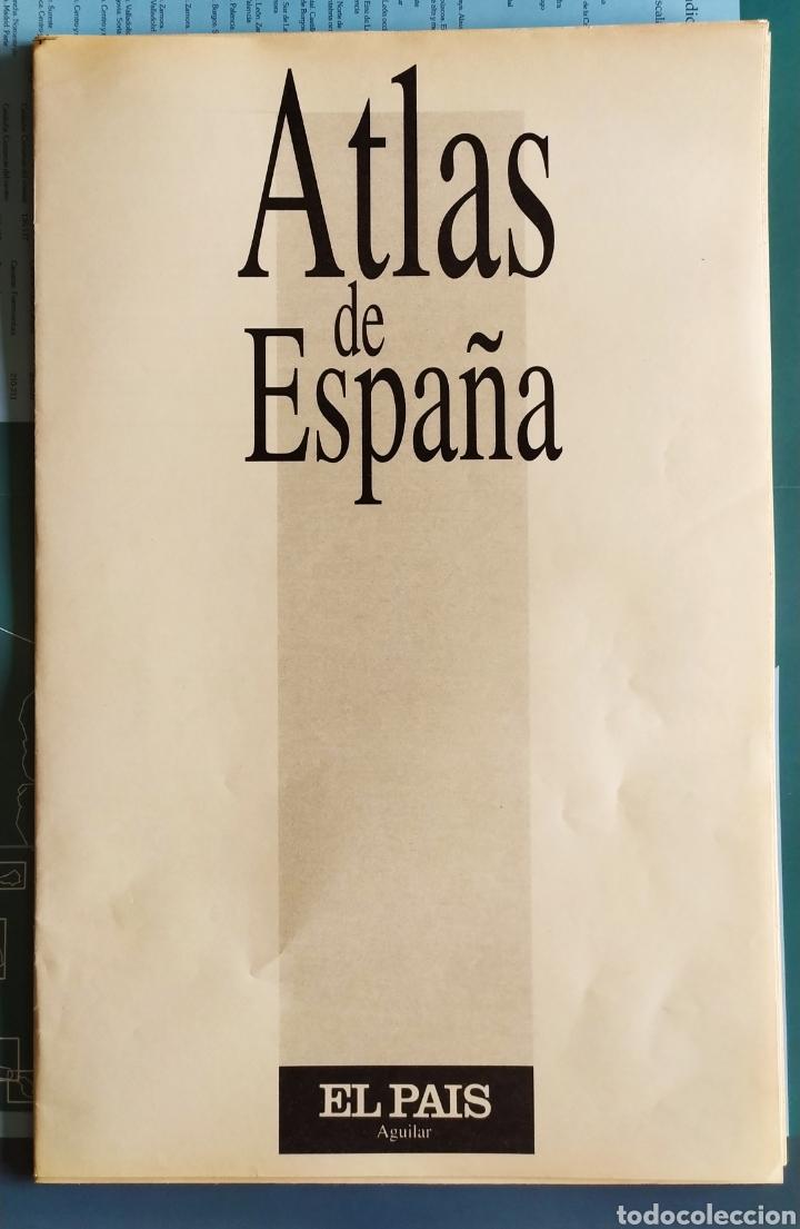 """Libros: ATLAS DE ESPAÑA (1992); """" EL PAIS """"; Editorial Aguilar. Sin Encuadernar. Completo. - Foto 8 - 245015290"""