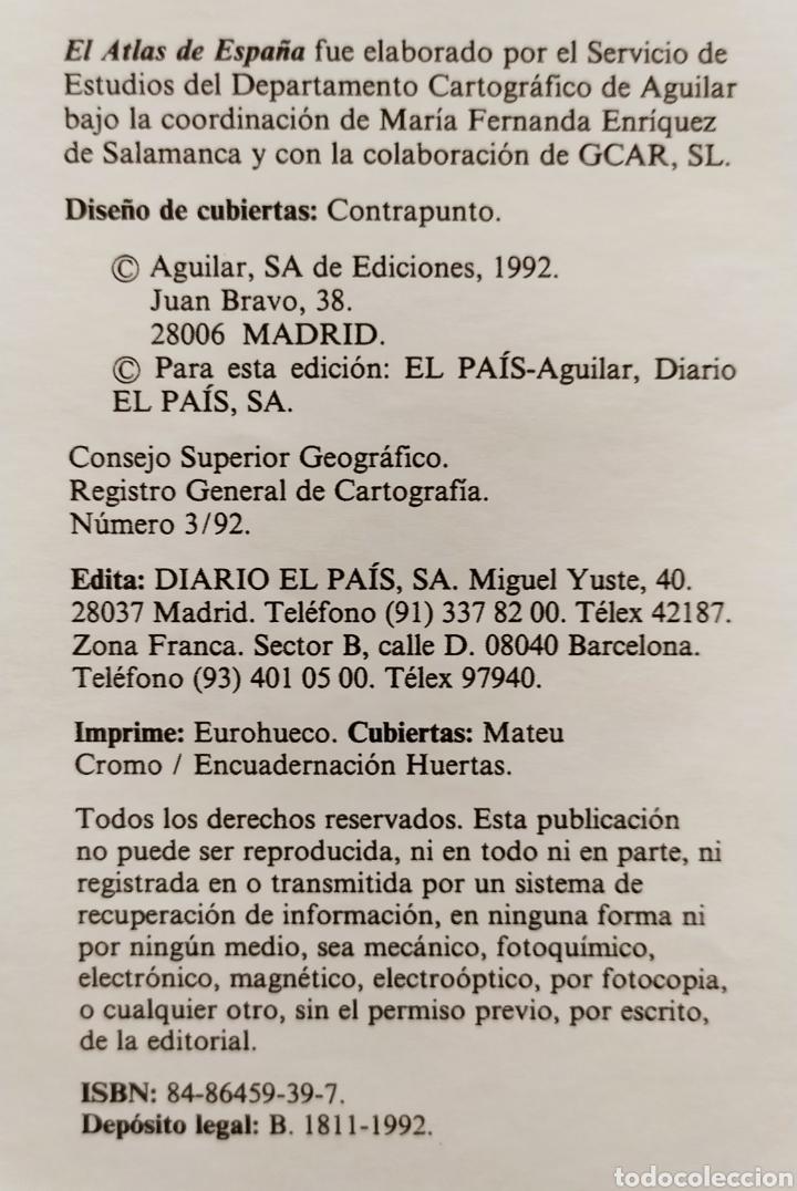 """Libros: ATLAS DE ESPAÑA (1992); """" EL PAIS """"; Editorial Aguilar. Sin Encuadernar. Completo. - Foto 16 - 245015290"""