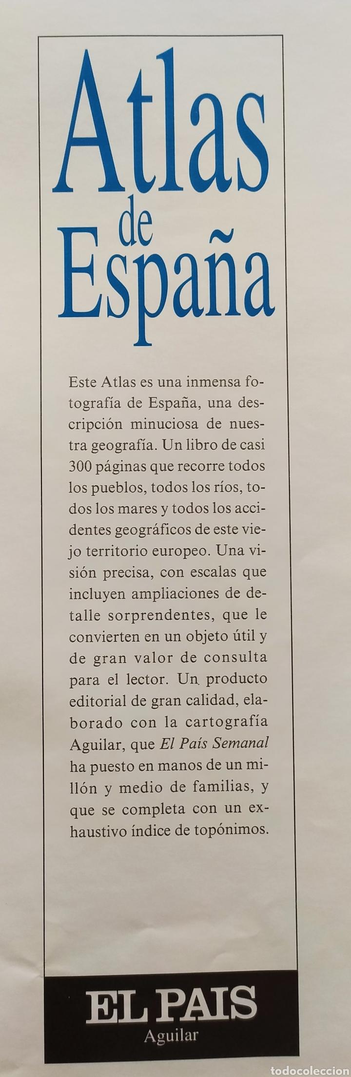 """Libros: ATLAS DE ESPAÑA (1992); """" EL PAIS """"; Editorial Aguilar. Sin Encuadernar. Completo. - Foto 17 - 245015290"""