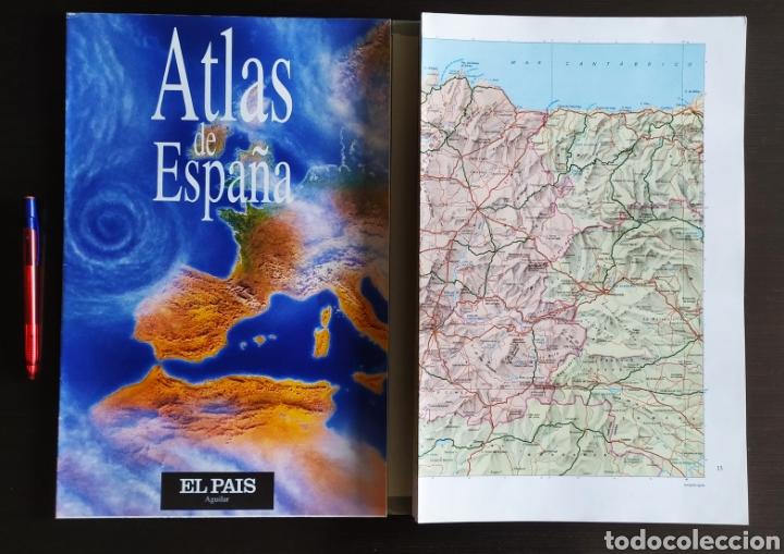 """Libros: ATLAS DE ESPAÑA (1992); """" EL PAIS """"; Editorial Aguilar. Sin Encuadernar. Completo. - Foto 18 - 245015290"""