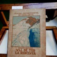 Libros: XALETS REFUIS ULL DE TER /LA RENCLUSA.CEC.. Lote 257831735