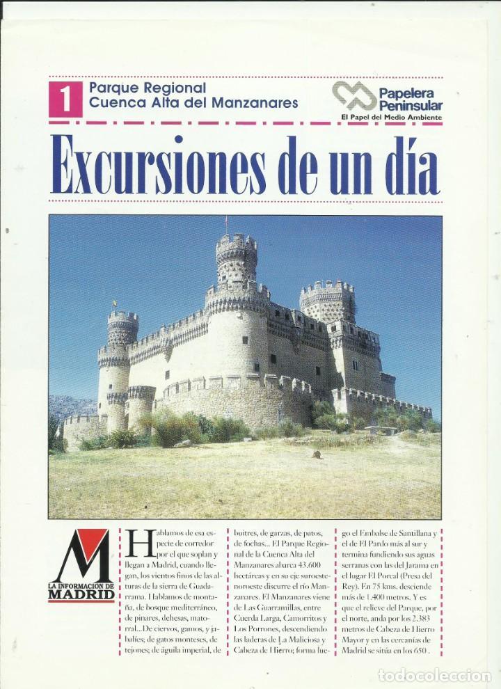 EXCURSIONES DE UN DIA LA INFORMACIÓN DE MADRID (Libros Nuevos - Humanidades - Geografía)