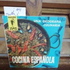 Libros: REPOLLES J. COCINA ESPAÑOLA.UNA GEOGRAFIA CULINARIA.. Lote 286289818