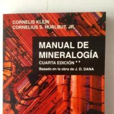 Libros: MANUAL DE MINERALOGÍA **.. Lote 91147865