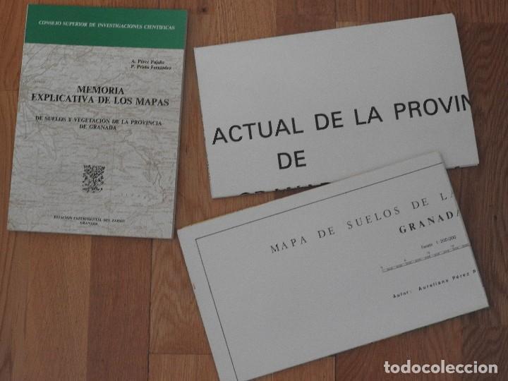 MEMORIA Y MAPAS DE SUELOS Y VEGETACION DE LA PROVINCIA DE GRANADA (INCLUYE SIERRA NEVADA), 1980 (Libros Nuevos - Ciencias, Manuales y Oficios - Geología)