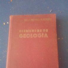 Libros: LIBRO ELEMENTOS DE GEOLOGIA. Lote 102067396