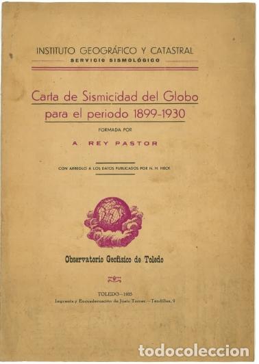CARTA DE SISMICIDAD PARA EL GLOBO PARA EL PERIODO 1899-1930 (Libros Nuevos - Ciencias, Manuales y Oficios - Geología)