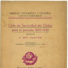Libros: CARTA DE SISMICIDAD PARA EL GLOBO PARA EL PERIODO 1899-1930. Lote 172761909
