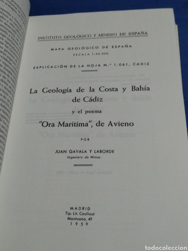 Libros: GEOLOGIA DE LA COSTA Y BAHIA DE CADIZ EL POEMA ORA MARITIMA DE AVIENO - Foto 5 - 174992310