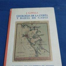 Libros: GEOLOGIA DE LA COSTA Y BAHIA DE CADIZ EL POEMA ORA MARITIMA DE AVIENO. Lote 174992310