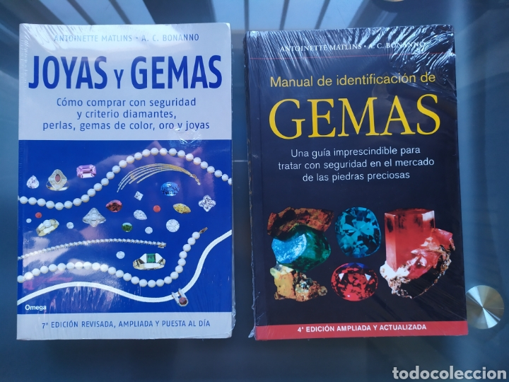 PACK 2 LIBROS JOYAS Y GEMAS Y MANUAL IDENTIFICACIÓN GEMAS (Libros Nuevos - Ciencias, Manuales y Oficios - Geología)