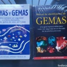 Libros: PACK 2 LIBROS JOYAS Y GEMAS Y MANUAL IDENTIFICACIÓN GEMAS. Lote 190228008