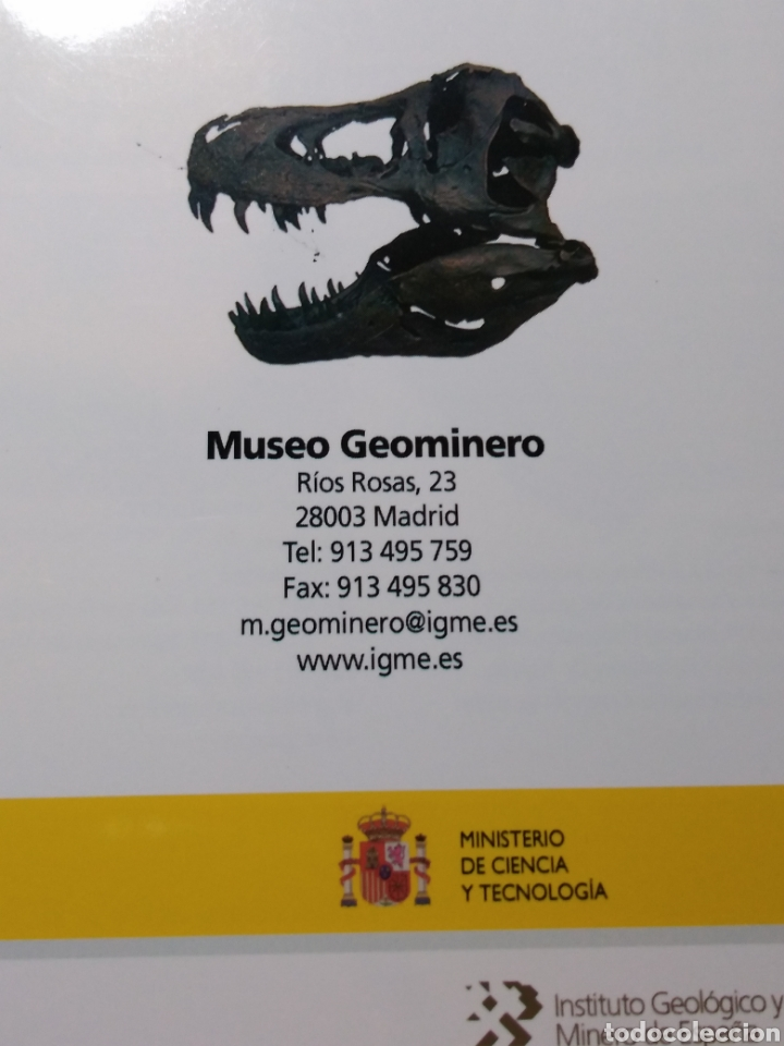Libros: GUÍA DEL MUSEO GEOMINERO. PALEONTOLOGIA Y MINERALOGÍA. - Foto 4 - 201533831