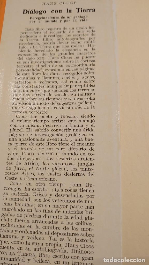 Libros: DIÁLOGO CON LA TIERRA HANS CLOOS prpm - Foto 2 - 207239501