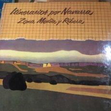 Libros: ITINERARIOS POR NAVARRA. ZONA MEDIA Y RIBERA. Lote 222702225