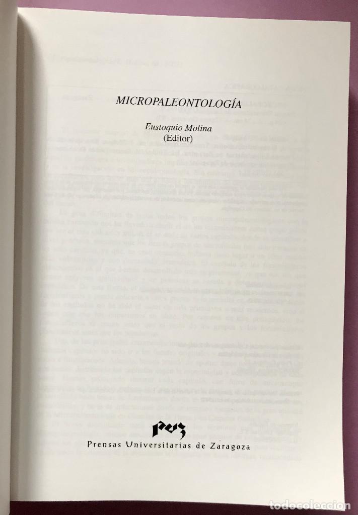 Libros: Micropaleontología. Eustoquio Molina Martínez, Prensas de UNIZAR. 2005 - Foto 2 - 243205155