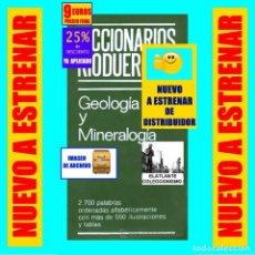 Libros: GEOLOGIA Y MINERALOGIA - DICCIONARIOS RIODUERO - JOSÉ SAGREDO - 1985 - NUEVO DE DISTRIBUIDOR - 9 €. Lote 247631835