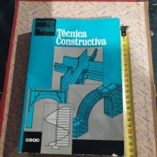 Libros: TÉCNICA CONTRUCTIVA(ENCICLOPEDIA CEAC DEL ENCARGADO DE OBRAS. Lote 252062745
