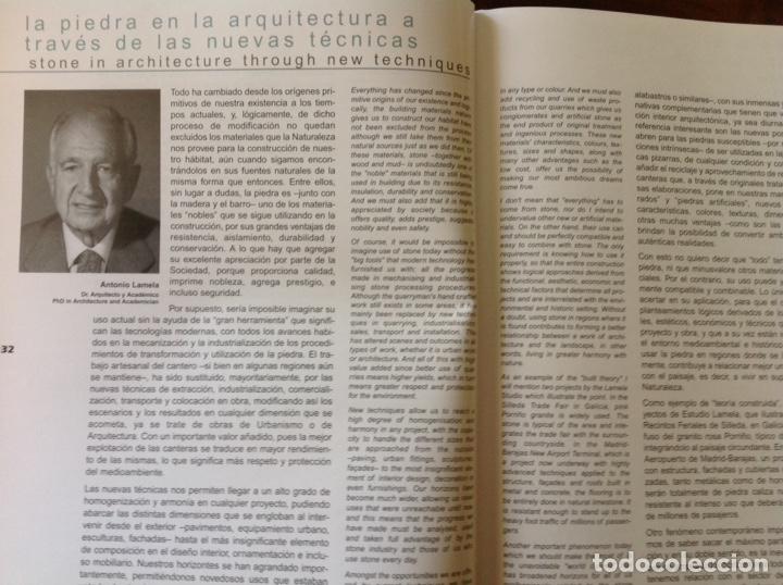 Libros: Directorio de la piedra natural para el arquitecto. ARQUINDEX 2003. MENHIR. 31x23x3 cm. Nuevo - Foto 2 - 252917900