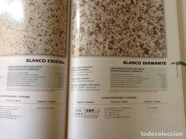 Libros: Directorio de la piedra natural para el arquitecto. ARQUINDEX 2003. MENHIR. 31x23x3 cm. Nuevo - Foto 6 - 252917900