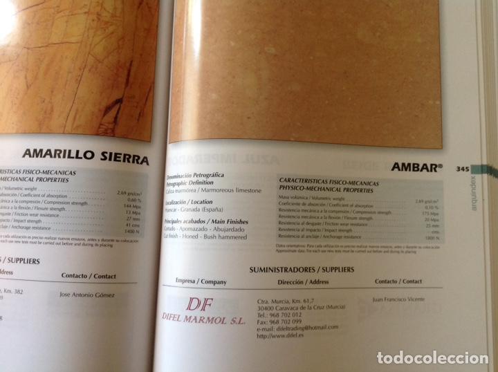 Libros: Directorio de la piedra natural para el arquitecto. ARQUINDEX 2003. MENHIR. 31x23x3 cm. Nuevo - Foto 7 - 252917900