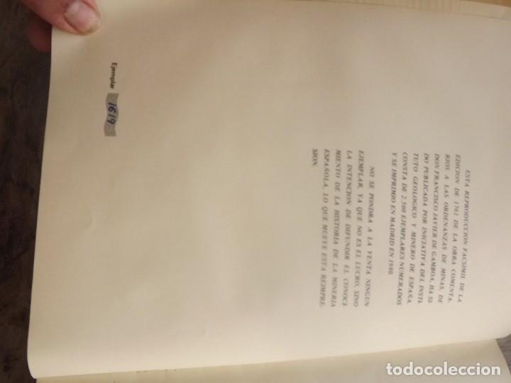 Libros: COMENTARIOS A LAS ORDENAZAS DE MINAS.GAMBOA (FACSIMIL) - Foto 2 - 254498080