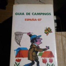 Libros: GUIA DE CAMPINGS. ESPAÑA 87. Lote 69021351