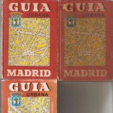 Libros: GUÍA URBANA DE MADRID, AÑOS 1.971 - 1.978 - 1.991. DIRECIONES Y CALLES DE MADRID.. Lote 86248252