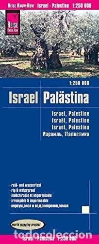 MAPA DE ISRAEL PALESTINA 1 : 250000 IRROMPIBLE IMPERMEABLE (Libros Nuevos - Ocio - Guía de Viajes)