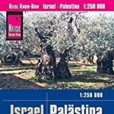 Libros: MAPA DE ISRAEL PALESTINA 1 : 250000 IRROMPIBLE IMPERMEABLE. Lote 123628619